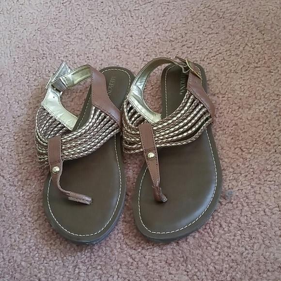 b4f46ef42bd121 Brown Merona braided strappy sandals. M 5ad0f9a984b5ce2fe11aa44b